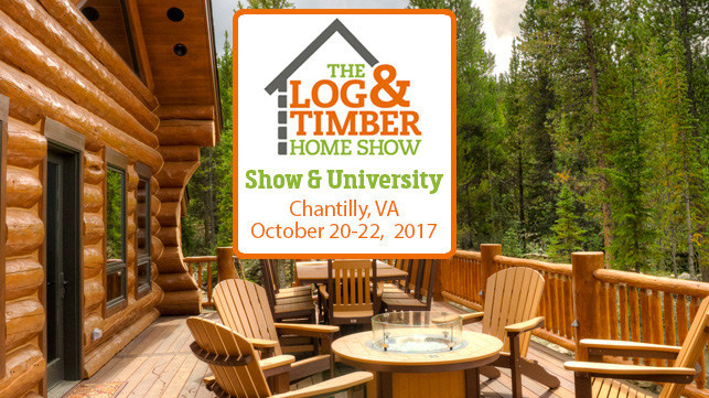 Chantilly 2017 Log & Timber Home Show Logo