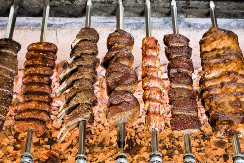 During lunch at several Texas de Brazil locations, guests can enjoy quality meats cooked the authentic Brazilian gaucho way --over open flame using natural wood charcoal which gives the meats a deeper, more intense flavor and just the right amount of smokiness.
