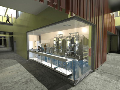 Rendering of lab within the Shared Fermentation Facility.