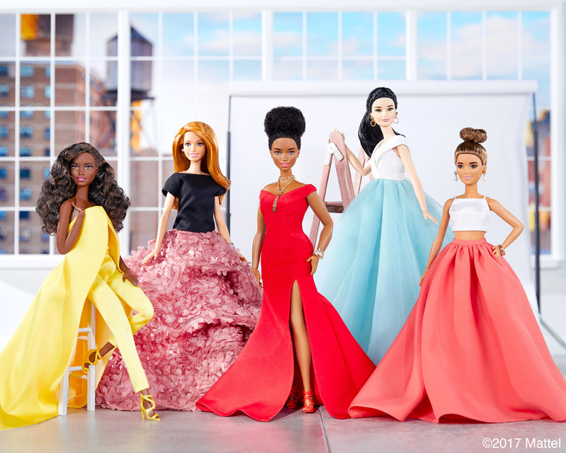 Christian Siriano designs one-of-a-kind looks for Barbie highlighting the diversity found in the brand's Fashionistas line.