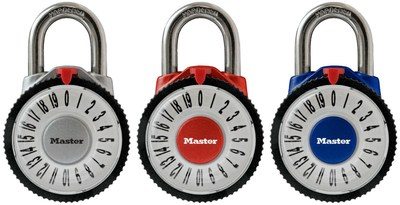 1588D Magnification Combination Padlock - Available in Silver, Red and Blue (as pictured above)
