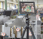 With the tablet's integrated camera, an overlay of the as-built object with virtual 3D data, including all process and workflow information, can be realized in real time.
