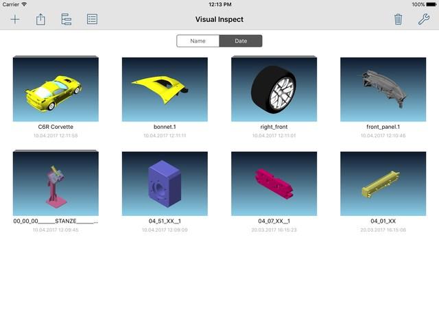 Los datos CAD 3D son almacenados localmene en el iPad a través de un algoritmo de compresión único que permite un almacenaje, flexibilidad y movilidad al máximo.