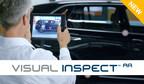 Inspección visual de una pieza o ensamble en condiciones reales es fácilmente realizada en tiempo real usando una sobreposición de los datos CAD sobre una imagen en condiciones reales del objeto o ensamblaje.