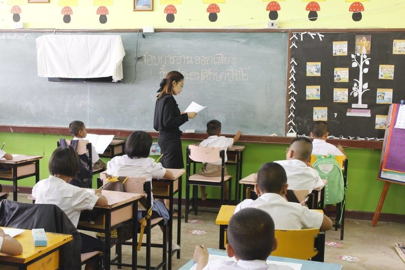 A classroom in one of the Rajaprajanugroh schools