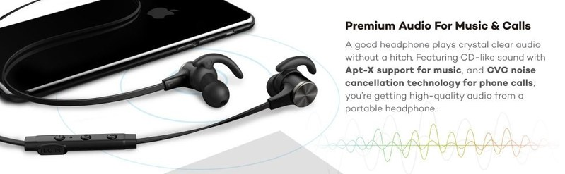 TaoTronics Bluetooth Earphones - The Lightweight Partner for Lovers of Music and Movement