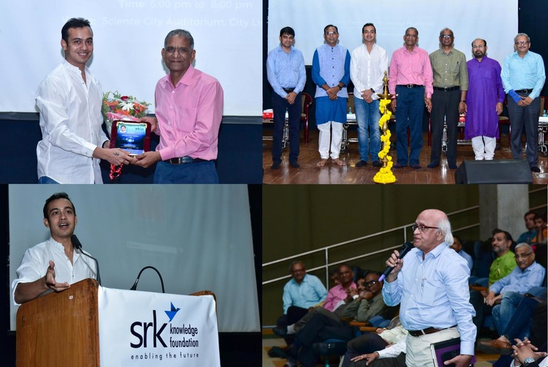 Filmmaker Abhishek Jain presented insights of 'Creativity in 21st Century' at Wisdom – A series of lectures, an initiative by SRK Knowledge Foundation (PRNewsfoto/SRK Knowledge Foundation)