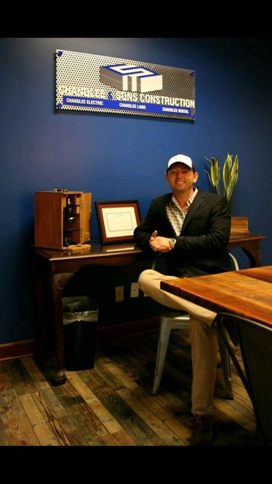 This is a photo of CEO, Seth Chandlee, taken in the front conference room at the offices of the Chandlee companies in Alpharetta, Georgia.
