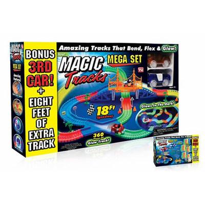 Magic Tracks® Mega Set Glow-in-the-Dark Race Track