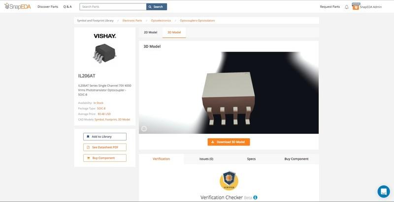 Vishay 3D Model on SnapEDA