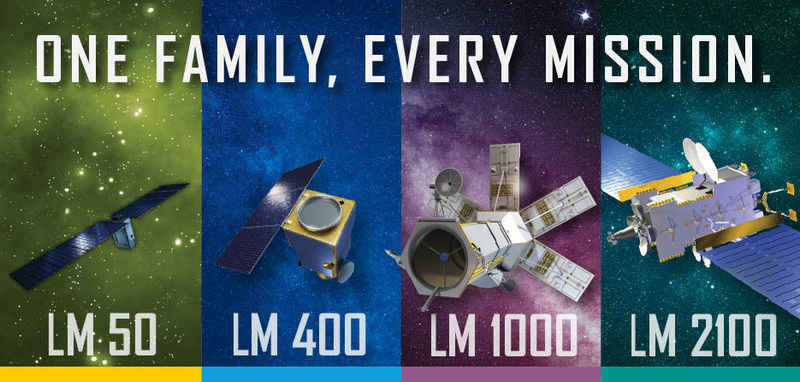 Lockheed Martin's family of solutions—all now featuring common components—include four series of satellites from nanosatellites to powerful geostationary platforms.
