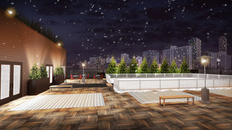 River North event venue, Savage Smyth, offers rooftop ice skating for the winter season