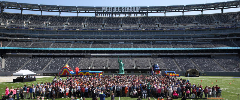 "More than 4,000 patients, caregivers and team members join John Theurer Cancer Center's 9th annual ""Celebrating Life and Liberty"" event at MetLife Stadium."