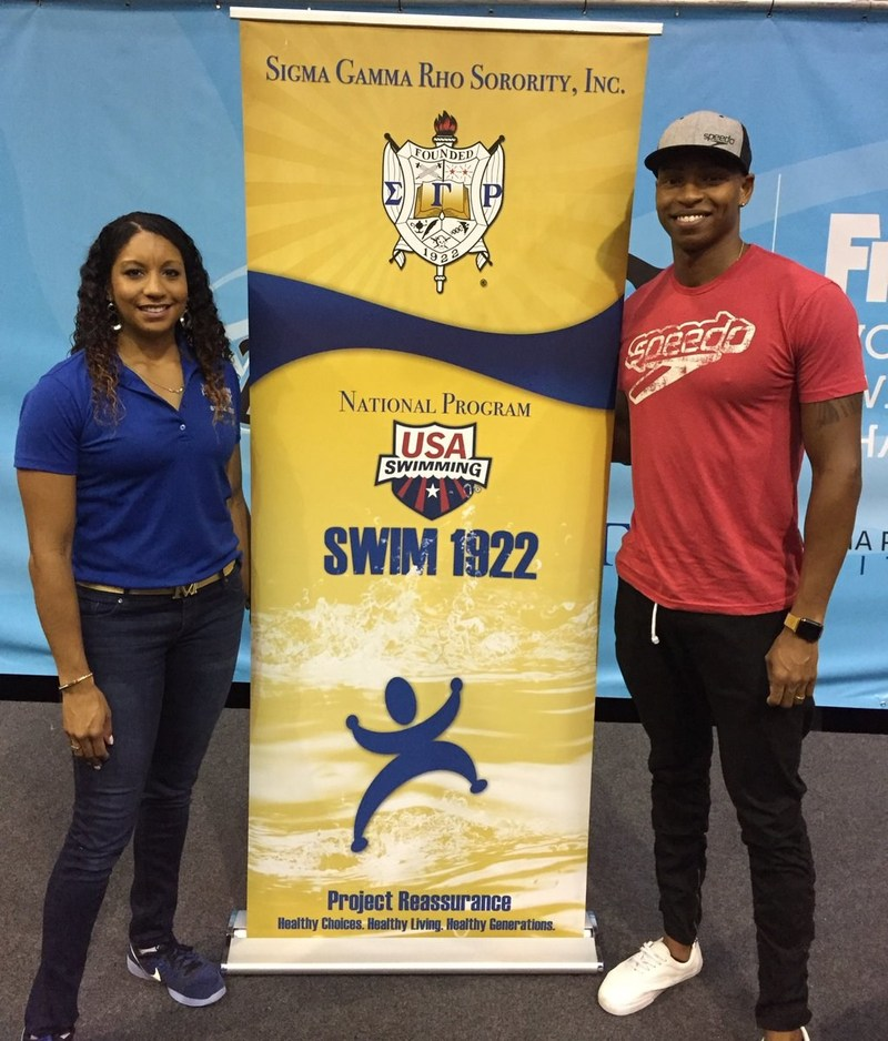 U.S. Olympians Maritza McClendon and Cullen Jones