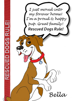 Bella, a very happy dog with a new forever family shares her thoughts on her favorite Smarty Paws leash!