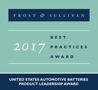 2017 United States Automotive Batteries Product Leadership Award