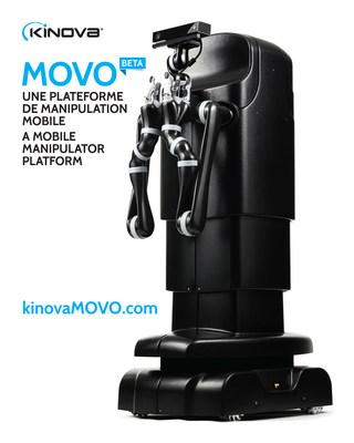MOVOBETA est une plateforme conçue pour aider les chercheurs et permettre la découverte d'approches et d'applications innovantes pour la manipulation mobile. Une convergence de fonctionnalités sans précédent. MOVO est unique, alliant performance, adaptabilité, modularité, configurabilité et ouverture. (Groupe CNW/Kinova Robotics)