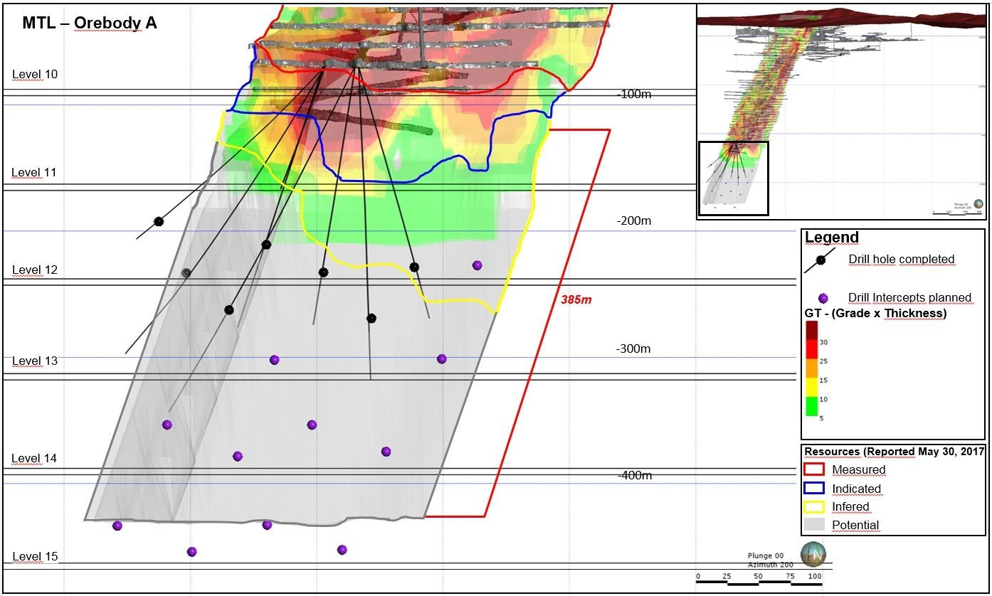 MTL - Orebody A (CNW Group/Jaguar Mining Inc.)