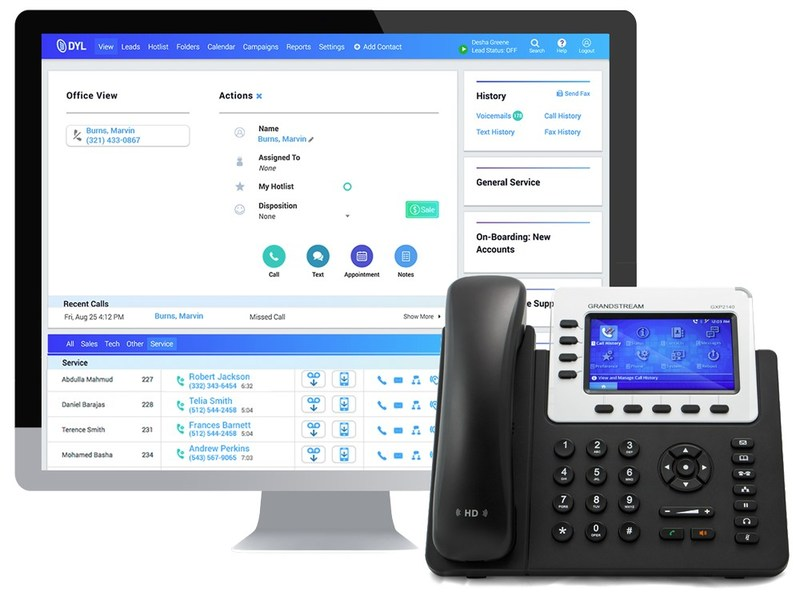 DYL's all-in-one phone system with sales automation.