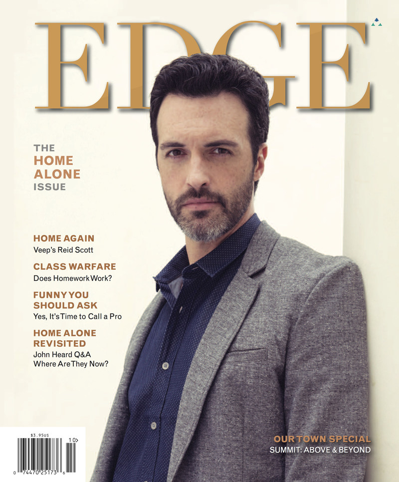 Reid Scott, Star of HBO's VEEP, Brings Home Fall Issue of EDGE Magazine PLUS : Special 'Home Alone' Retrospective Features Final Interview with Actor John Heard. EDGE Magazine is published by Trinitas Regional Medical Center reaching over 300,000 readers in New Jersey. For more information contact Doug Harris at (908) 994–5138 or visit EdgeMagOnline.com.