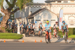"Recognizing the value of ""walking the talk"" when it comes to a healthy lifestyle, Dr. Steven Wilson (far right), an MDVIP-affiliated family doctor in Redlands, Calif., hosts weekly cycling and walking groups to encourage his patients to exercise. Credit: MDVIP"