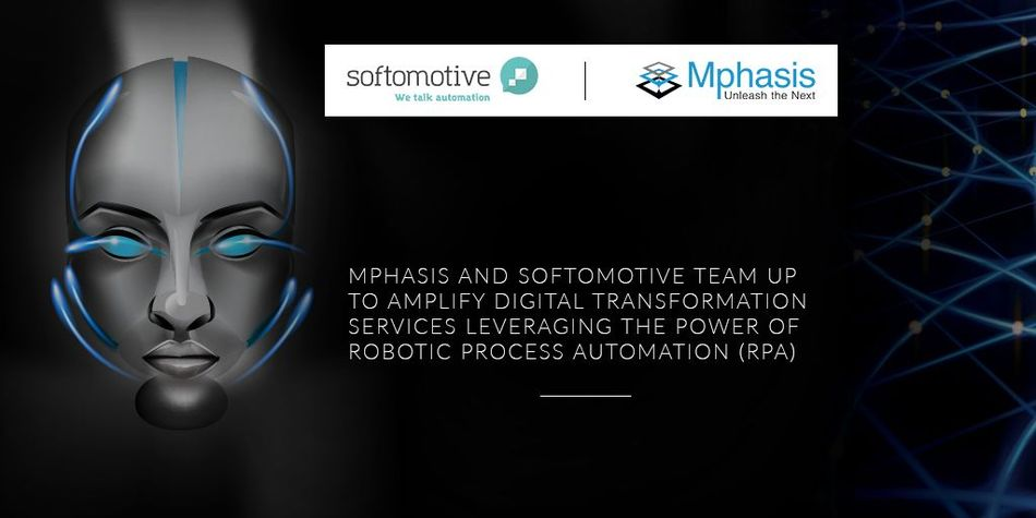 Mphasis joins forces with Softomotive to accelerate digital transformation leveraging RPA (PRNewsfoto/Softomotive)