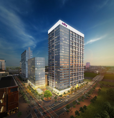 Ally Charlotte Center will provide new contemporary office space for Ally employees in Charlotte. Construction is scheduled to begin in the first quarter of 2018.