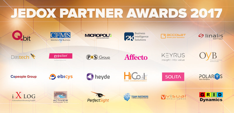 24 business partners honored during Jedox's 6th annual partner conference in Hamburg/Germany