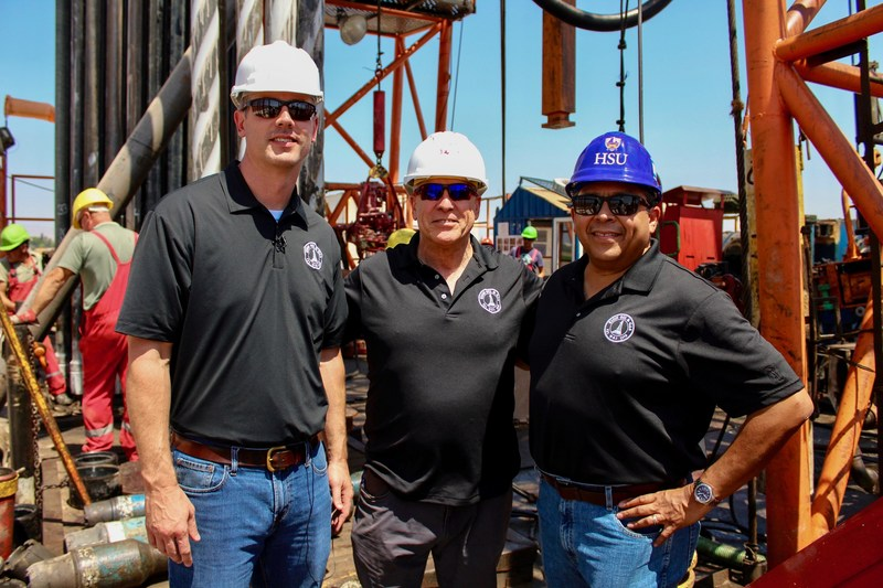 Zion's President (Dustin Guinn), Israel Managing Director (Jeffrey Moskowitz), and CEO (Victor Carrillo) at MJ #1 Well.