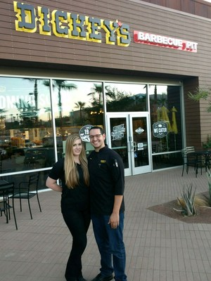 Steven and Haley Frydrych open their second Dickey's location Rancho Mirage.