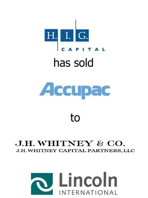 Lincoln International represents an affiliate of H.I.G. Capital in the sale of Accupac to J.H. Whitney Capital Partners