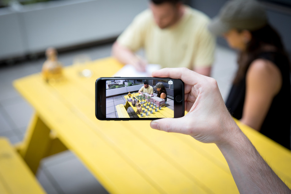 """""""The Patrón Experience,"""" on the newly released Apple iOS 11 with ARKit, gives consumers a portal to the Hacienda Patrón distillery in the Highlands of Jalisco, Mexico."""