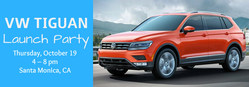 On October 19, Los Angeles-area SUV shoppers can enjoy Volkswagen of Santa Monica's Tiguan launch party.
