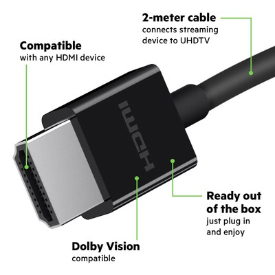 Belkin®, market leader in connectivity solutions, today introduced its Ultra High Speed HDMI Cable, which provides an effortless experience for connecting Apple TV 4K, Mac or HDMI devices to your TV or A/V receiver.
