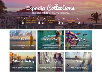 Expedia Collections Homepage