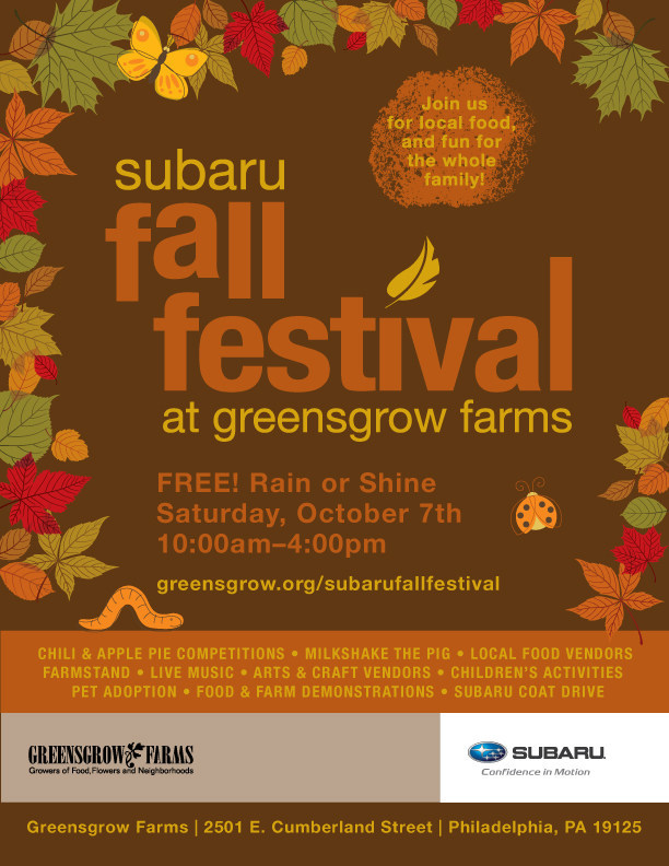 The Subaru Fall Festival At Greensgrow Farms Returns To Philadelphia - Subaru philadelphia