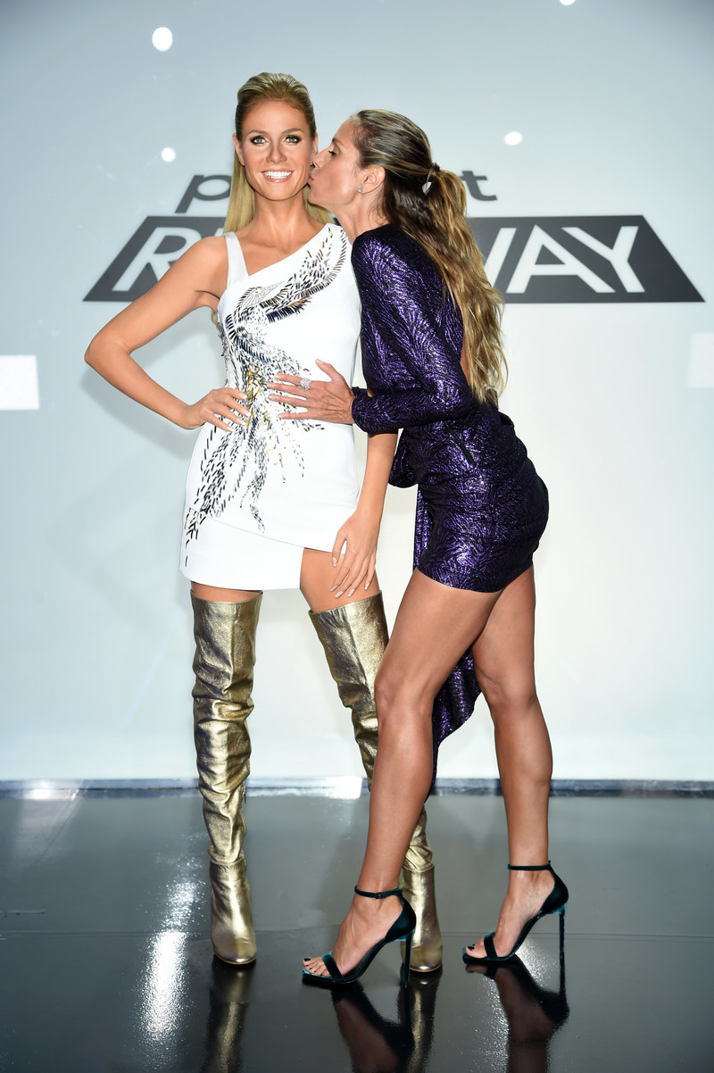 HEIDI KLUM MEETS HER WAX DOUBLE AS MADAME TUSSAUDS NEW YORK OPENES NEW PROJECT RUNWAY EXPERIENCE