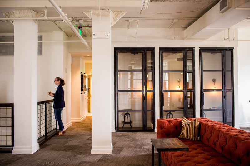 A glimpse inside a transformed floor of the Flatiron Building.