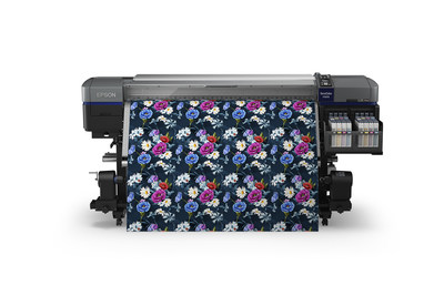 New Epson SureColor F9370 64-inch Dye-Sublimation Inkjet Printer delivers fast print speed, performance and reliability for textile and apparel market.
