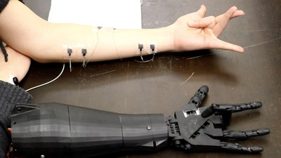 Georgia Tech, a machine arm that mimics the actions of a human arm,