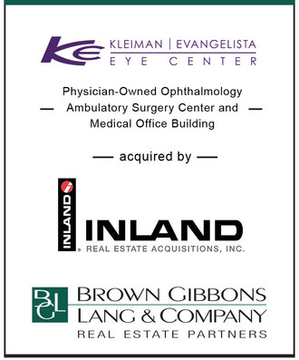 BGL Real Estate Partners Announces the Sale of Kleiman Evangelista Eye Center