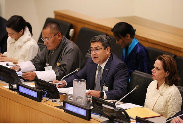 Honduran President Announces Priorities for U.N. General Assembly