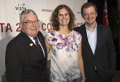 Photo de Robert Steadward, Victoria Goosey-Tolfrey et Andrew Parsons: Dan Galbraith / VISTA 2017 (Groupe CNW/Comité paralympique canadien (CPC))