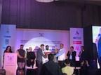 Harsh Pareek, Regional Sales Director, Trimble Solutions India, receiving the award from Mr. Eknath Shinde, Minister, Govt of Maharashtra (PRNewsfoto/Trimble Solutions India Pvt Ltd)