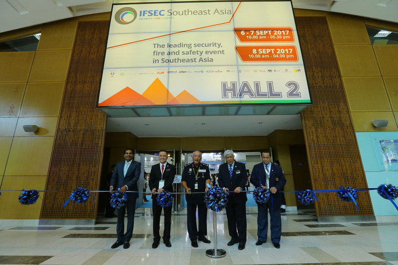 IFSEC Southeast Asia 2017 was officiated by representatives of Royal Malaysia Police, Ministry of Home Affairs, APSA Malaysia Chapter and UBM
