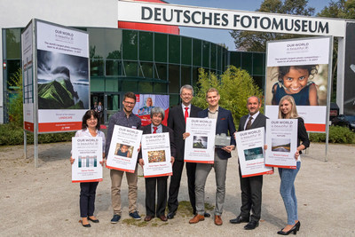 "The winners of the photo competition ""Our world is beautiful"" were chosen in the German Photo Museum. From left to right: Agnes Dudas from Hungary, Florian Bernhardt from Germany, Manh Ngoc Nguyen from Germany, Dr. Christian Friege (Chairman of the CEWE Board of Management), overall winner Janne Kahila from Finland, Christoph Grubich from Austria, Terezie Fojtová from the Czech Republic. Source: CEWE (PRNewsfoto/CEWE)"