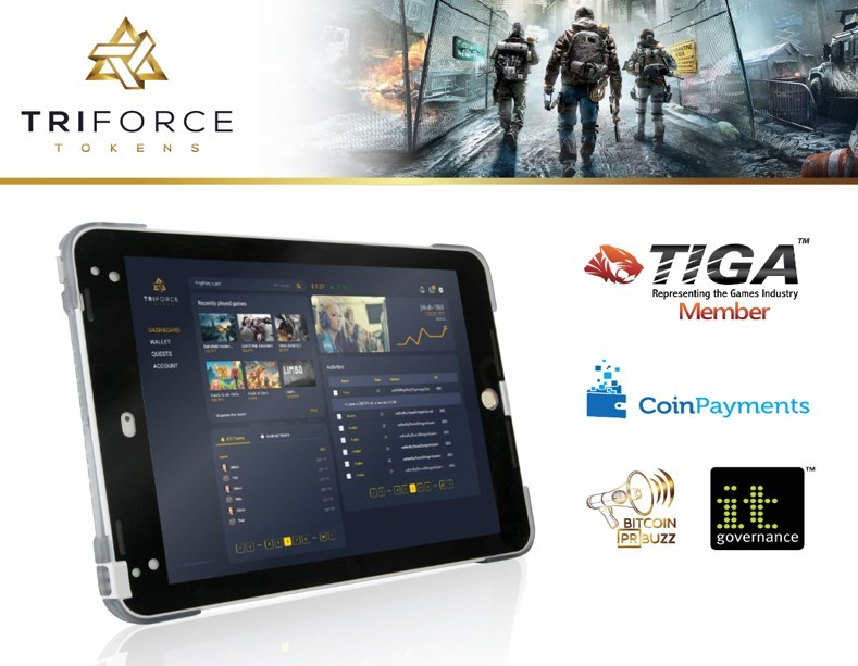 Blockchain Startup TriForce Tokens Proudly Announces ICO Campaign, With a Free Ledger Nano S Device for First 50 Participants