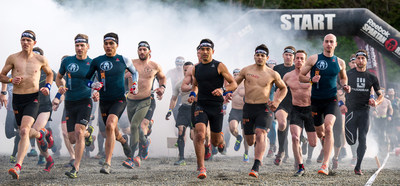 Elite obstacle racers compete during the Spartan Race Championship Series