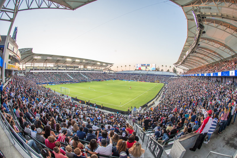 Fans enjoying LA Galaxy match at StubHub Center