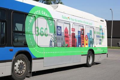 La ligne 360 de la Société de transport de Laval (STL) a connu un succès retentissant au cours de la saison estivale 2017 en transportant près de 24 000 passagers entre le 24 juin et le 25 août derniers; un gain de clientèle de 198 % par rapport à l'été 2016. (Groupe CNW/Société de transport de Laval)
